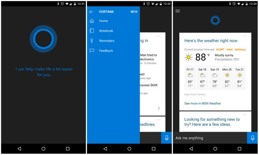 Microsoft Cortana For Android Free Download