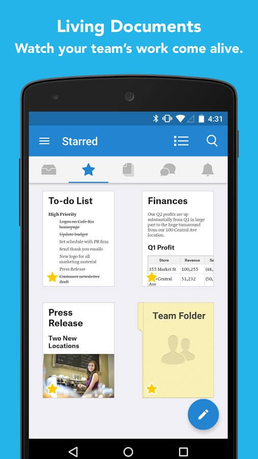 Quip Docs Chat Spreadsheet Best Note Taking Apps For Android