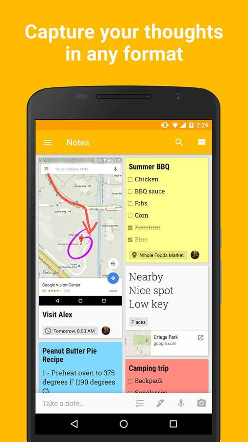 Google Keep Free Note Taking Apps For Android