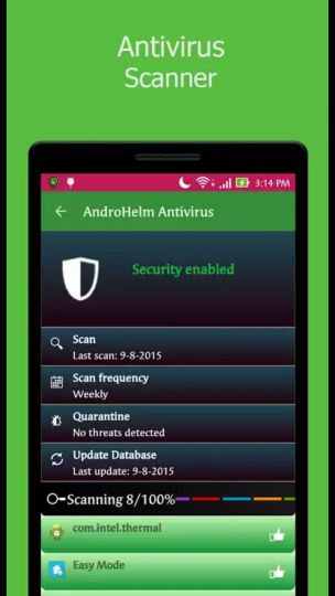 ANDROHELM MOBILE SECURITY app