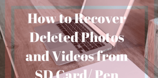 How to Recover Deleted Photos and Videos from SD Card Pen Drive
