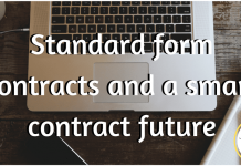 Standard form contracts and a smart contract future